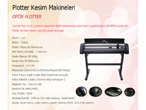 Optik gözlü plotter